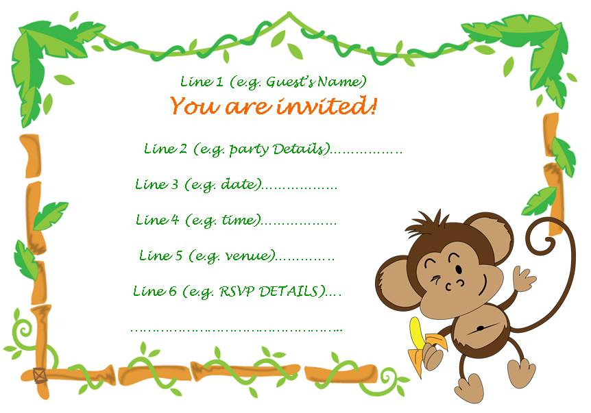 cheeky monkey invitation » cheeky monkey invitation Images ...